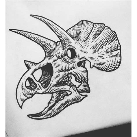 triceratops tattoo triceratops skull tattoos tatting