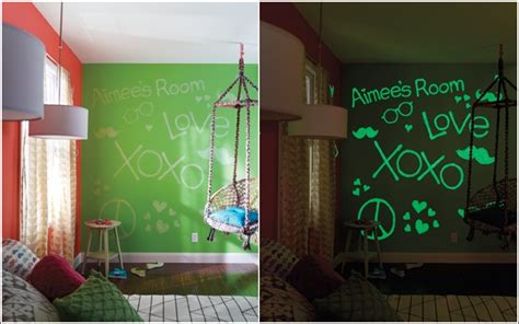 glow in the dark paint for bedroom walls glow within the darkish paint and decals for your kid s room house interior designs
