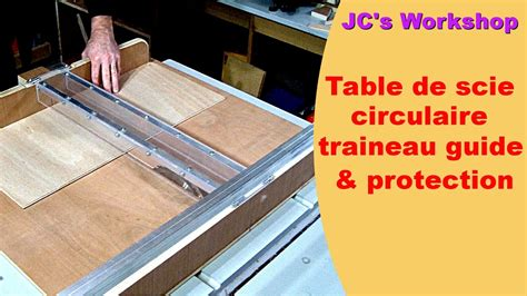 protection table bois table de scie circulaire tra 238 neau et rails guide