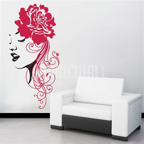 flowers wall stickers wall decals floral headwear wall stickers
