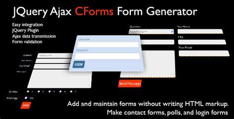 generator theme demo jquery cforms form generator theme for u