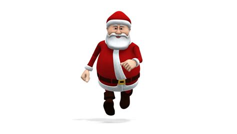 animation of santa claus walking transparent background