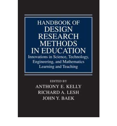 design of experiment handbook handbook of design research methods in education