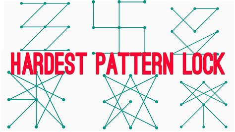 pattern lock best top 6 hardest pattern lock ever how to do it اجمل و اصعب