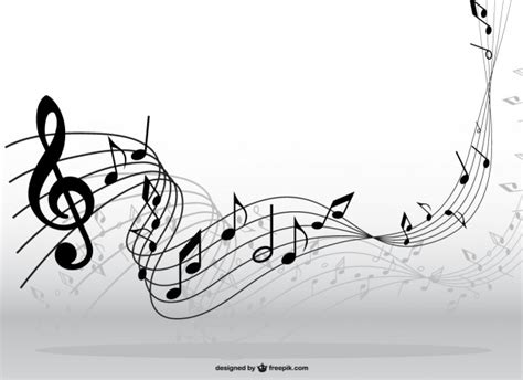 imagenes vectoriales musicales notas musicales en movimiento descargar vectores gratis