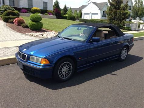 buy used 1999 bmw 323i convertible e36 5 speed manual avus blue super rare runs great in