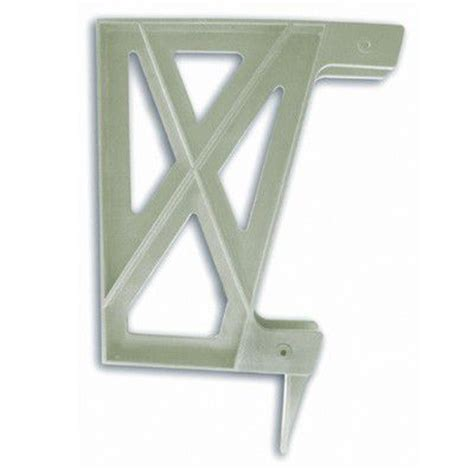 home depot bench brackets peak products plastic bench bracket in khaki the home