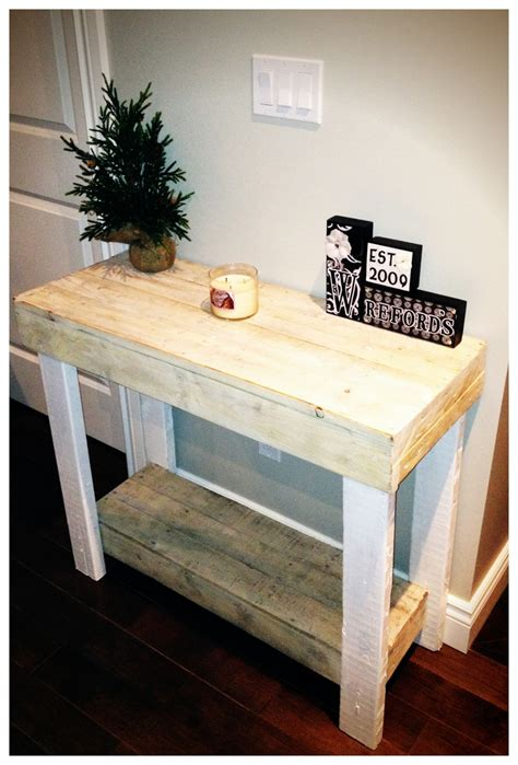 Pallet Console Table Wood Pallet Console Table With White Wash Finish Diy Crafts Projects Pinterest Tables