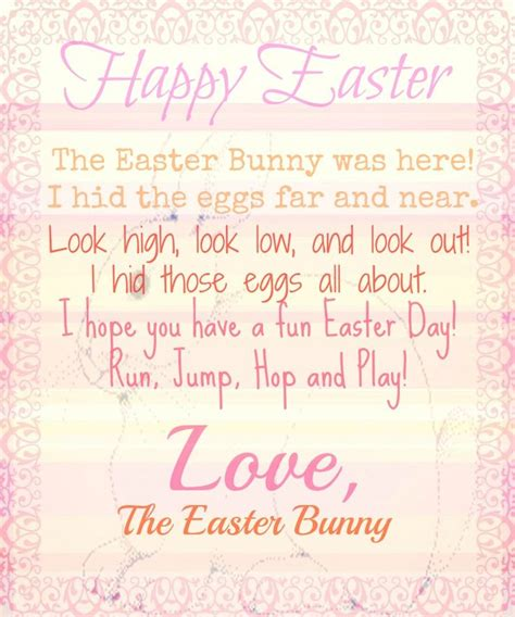 letter to the easter bunny template letter from the easter bunny printable s all about