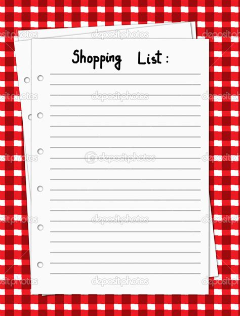 printable shopping list blank 5 best images of blank shopping list printable printable
