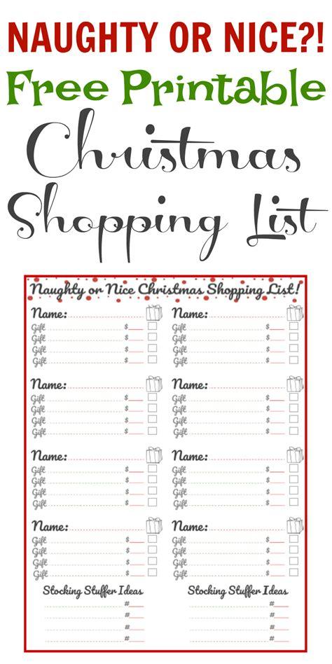 printable holiday grocery list free printable christmas shopping list theprojectpile