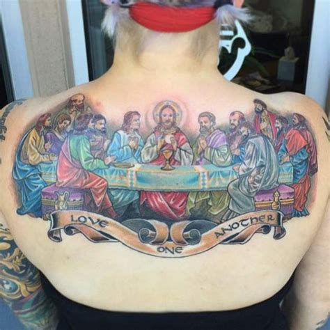 the last supper tattoo design 60 heartwarming christian designs and ideas