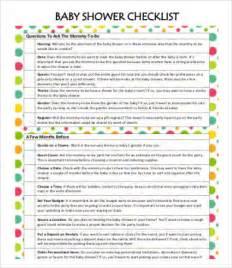 baby shower checklist template baby shower checklist template 7 free word pdf format