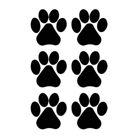 Dog Paw Prints Silhouette Vinyl Decal Paw Print Silhouette