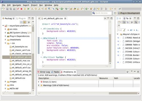 eclipse themes css editing the eclipse 4 workbench css eclipse hints tips
