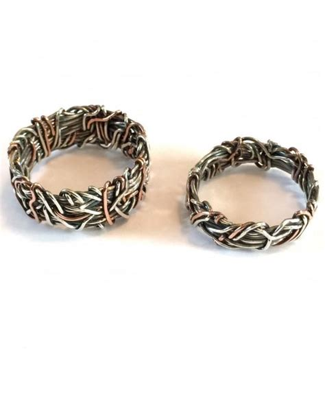 Two Metal Wedding Rings by His And Hers Wedding Rings Matching Wedding Bands