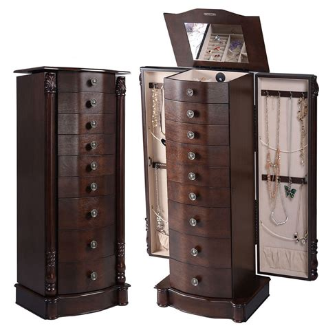 Jewelry Armoire Ebay by Jewelry Cabinet Armoire Box Chest Storage Mirror Tray