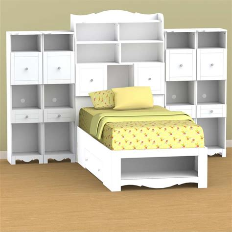 white twin size headboard nexera pixel collection twin size tall headboard white 315803