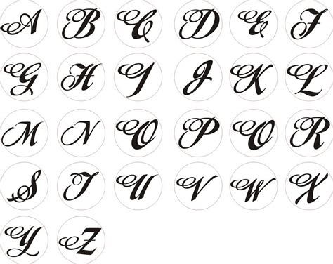 Letter Style alphabet letters in different styles letters exle