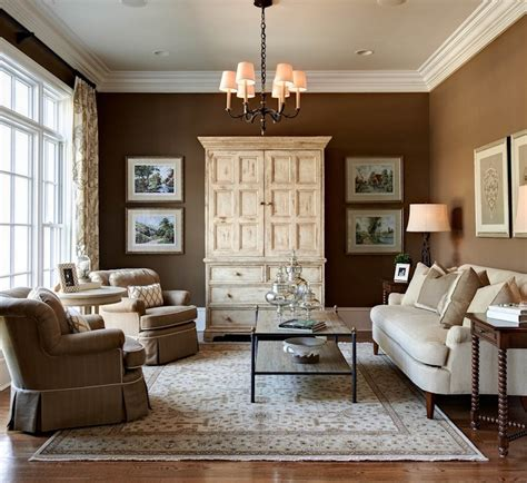 Brown Living Rooms by Enchanting Wall On Best Interior Paint Color Inside