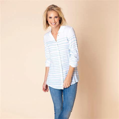 Stripe Collar Blouse yest gelly stripe collar blouse myrtle mae s boutique