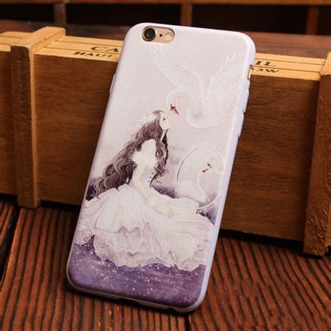 lovely aesthetic girls series relief silicone soft iphone cases   iphone cases