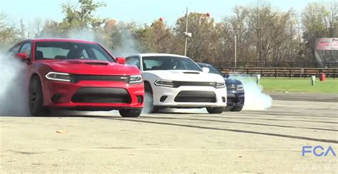 charger hellcat burnout video ring in the new year with a compilation of hellcat