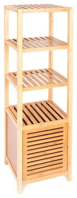 bathroom bamboo storage bamboo bathroom storage cabinet contemporary bathroom cabinets and shelves by