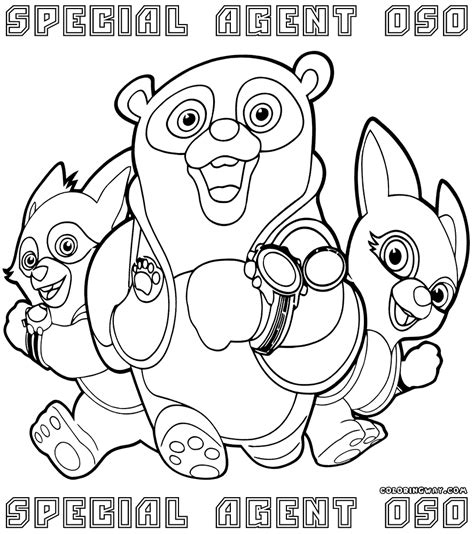 special agent oso coloring pages coloring pages to