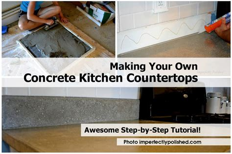 Make Your Own Concrete Countertop your own concrete kitchen countertops