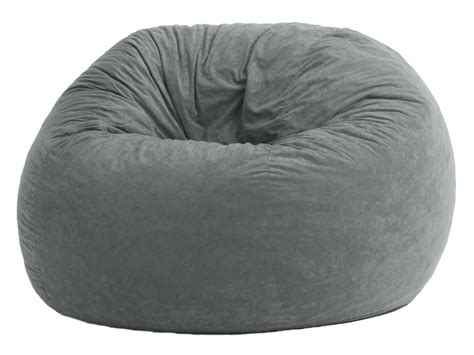 Big Joe Large Fuf Steel Grey Comfort Suede Bean Bag from
