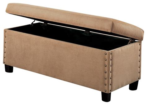 deep storage bench upholstered storage bench deep brown leather soft tan