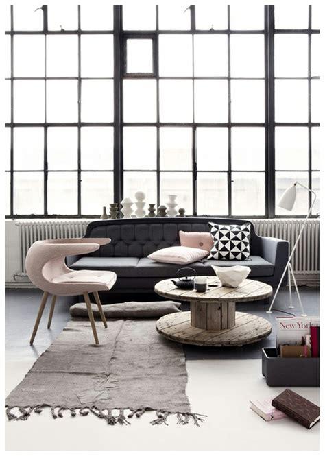wohnzimmer farbschemata farbschema grau rosa interieur design ideen