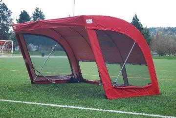 portable soccer bench canopy premier sports products the worlds best sport shelter