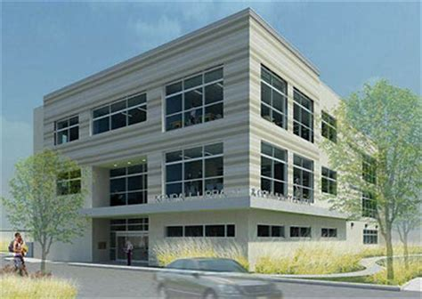 3 story building rendering of new sherman kendall library and
