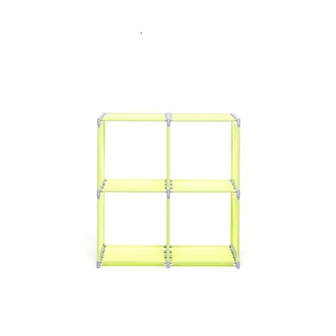 Square Shelf Unit by Vetra Shelving Unit Square In Apple Green With 4 Shelf