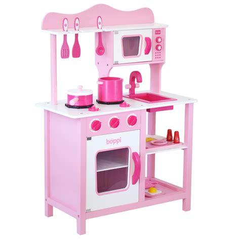 Multi Kitchen Set Di Jaco bambini ragazze rosa giocattolo in legno cucina with 20