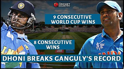 Ms Records Ms Dhoni Breaks Sourav Ganguly S Record Of Most Consecutive Wins As Indian Captain