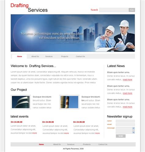 free templates for engineering website architect css template 5706 construction engineering
