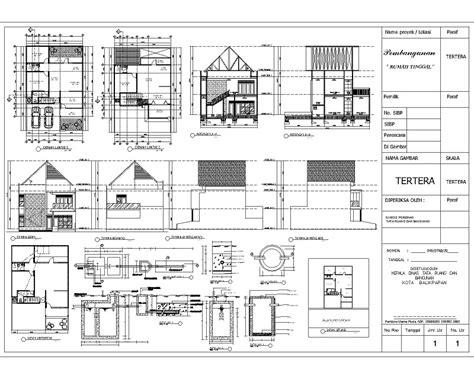 membuat gambar imb tfq architects desain gedung