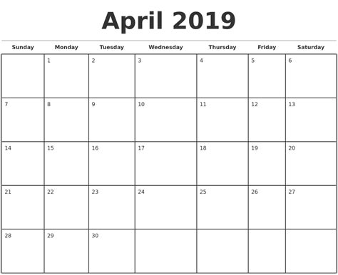 Photoshop Monthly Calendar Template