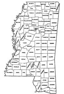 counties map with names the msjrc state of mississippi senate districts by county