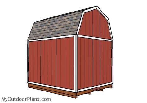 gambrel shed roof plans myoutdoorplans  woodworking plans  projects diy shed