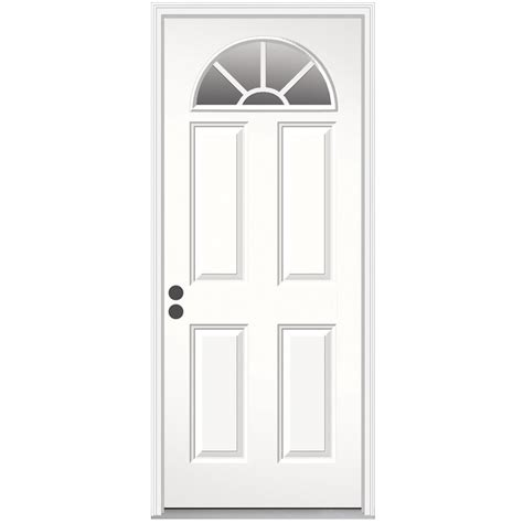 30 Exterior Door With Window Shop Jeld Wen Decorative Glass Right Inswing Steel Primed Entry Door Common 30 In X 78 In