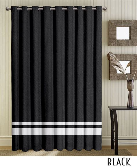 Striped Grommet Curtains Black Striped Grommet Curtains