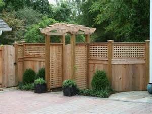 Fence Pergola by Masonry Fence Design Pergola With Lattice Walls Pergola