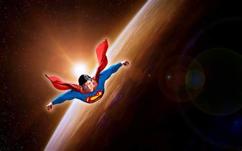 gambar  wallpaper gambar kartun superman terbang keren