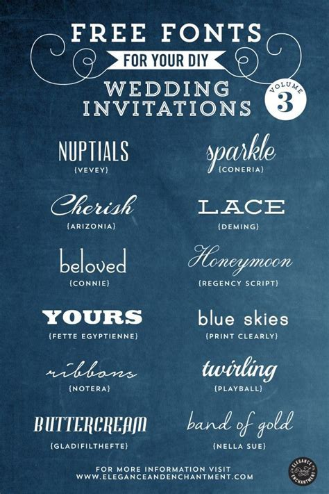 Free Fonts for DIY Wedding Invitations   Volume 3