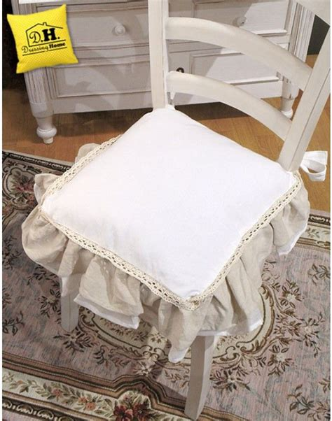 cuscini blanc mariclo cuscino per sedia shabby chic new fru fru collection blanc