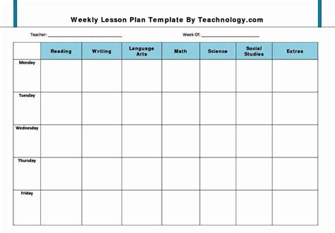 Basic Lesson Plan Template basic preschool lesson plan template besttemplates123